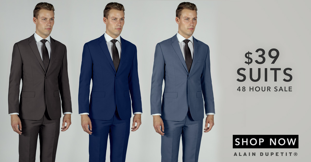 Two-Piece Suits + One-Shirt or Tie or Accessory