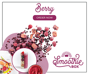 The SmoothieBox.com Berry Super Smoothie is light and refreshing, one of our sweeter flavors.