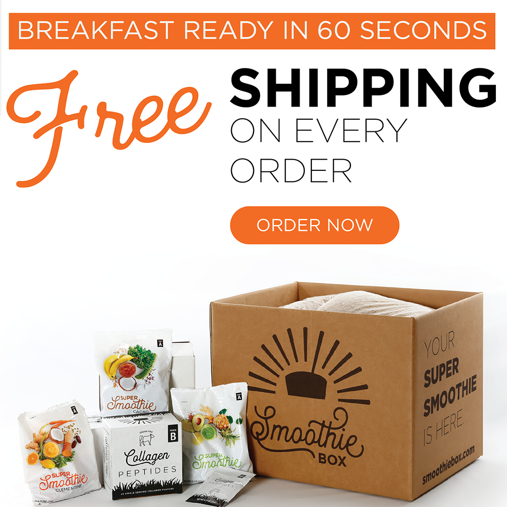 FREE Shipping On All Orders at SmoothieBox.com, no coupon needed!