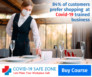 84% of customers prefer shopping at Covid-19 trained business