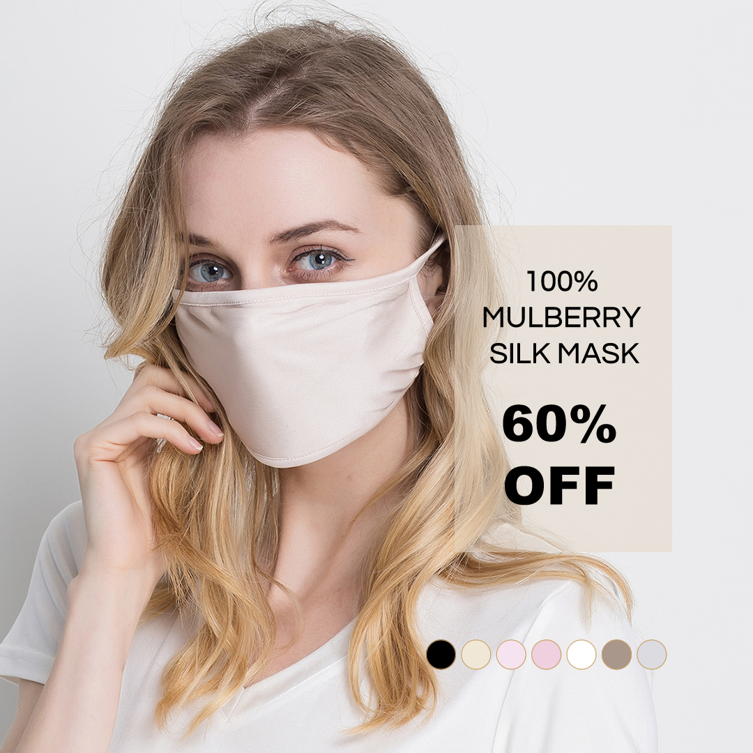 Breathable Soft Pure Silk Mask 60% Off