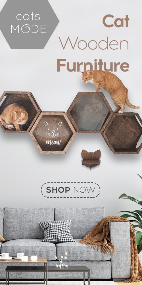 Cat Furniture Shelf Color Dark Walnut
