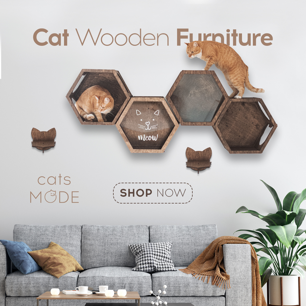 Cat Furniture Shelf Color Dark Walnut
