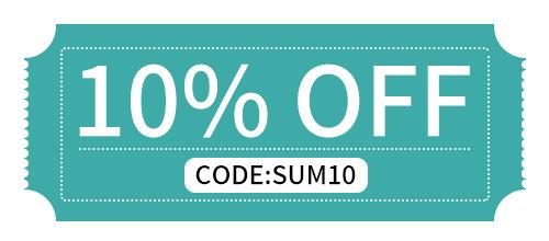 10% OFF Summer Promotion