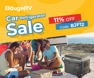 """Apply coupon code """"BJF12"""" to Save 12% Off for BougeRV Car Refrigerator New Release"""