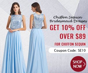Chiffon Sequin Bridesmaid Dresses