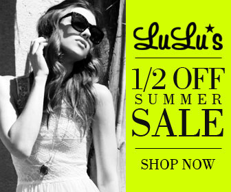 ONE WEEK ONLY - Shop Lulu*s 1/2 OFF Summer Sale - Click Here!
