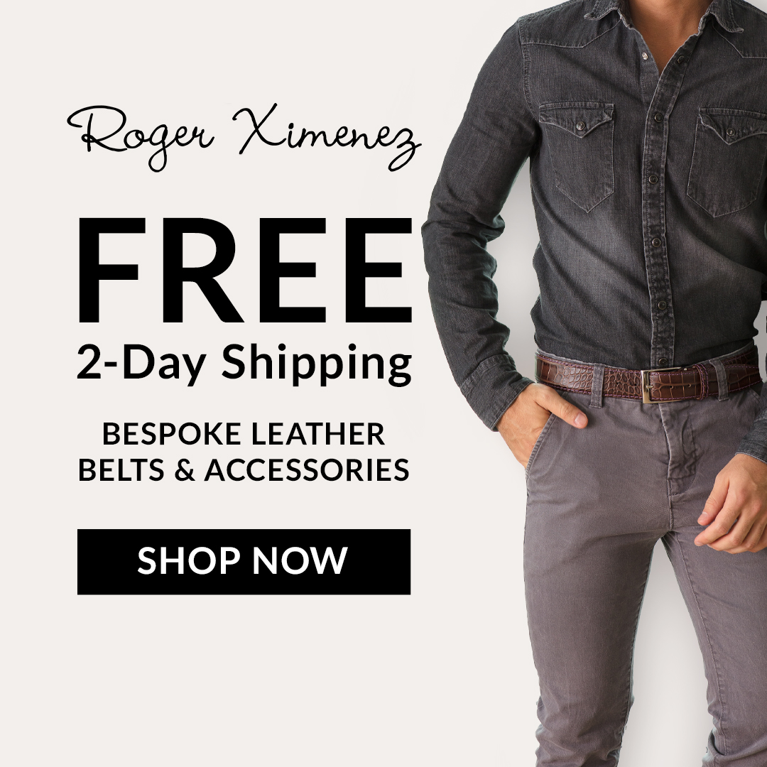 FREE 2-day shipping on all domestic orders at RogerXimenez.com