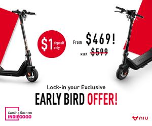 $250 Off on NIU KQi3 Electric Kick Scooter