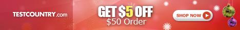 Xmas Special: Get $5 Off $50 Order