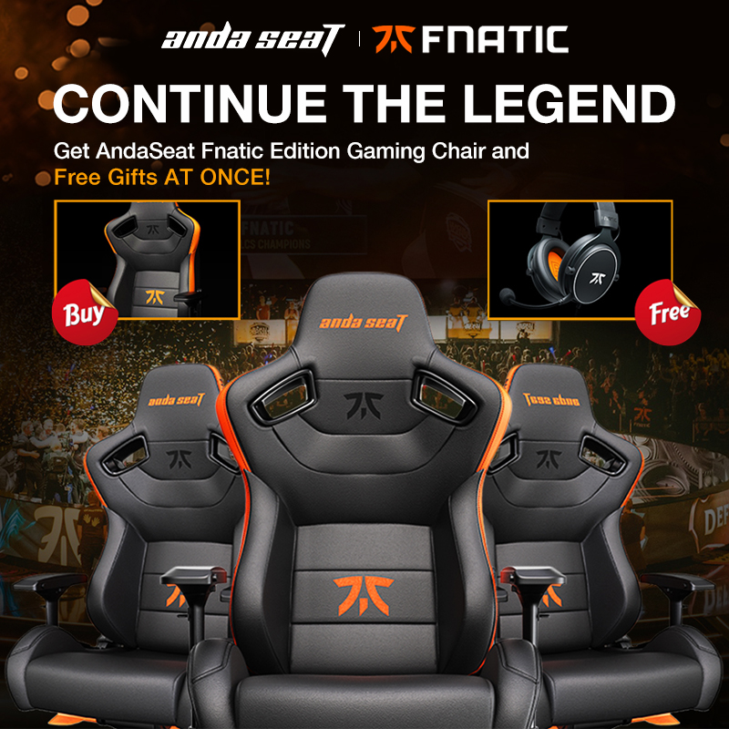 AndaSeat Fnatic Edition Chair + Fnatic Earphone Limited Sale