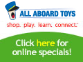 All Aboard Toys.com coupons