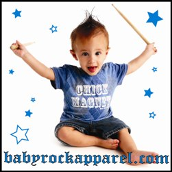 Baby Clothes, Cool Baby Clothes, Rock Toddler T-Shirts, Punk Infant Clothes