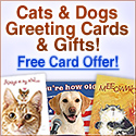 Cute Cat and Dog Greeting Cards!
