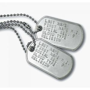 Get your genuine custom military dog tags here