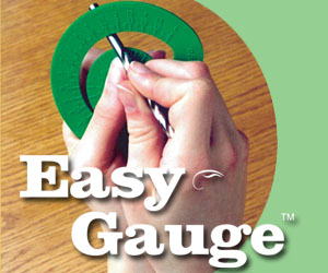 As Seen At TV Presents: Easy Gauge - $4.95  - Looking for a way to make drill-bit selection quick and easy? The Easy Gauge� is a compact tool that accurately determines the diameter of a drill bit in seconds.  Flat and small enough to fit inside a pocket, the Easy Gauge is semi-circular in shape with a cut-out arch that accurately sizes drill bits. Slide the end of a drill bit through the arch until both sides of the gauge meet the bit, and read the diameter from the scale. The Easy Gauge also can be used to measure a screw or other fastener to find the appropriate drill bit for a job.. Available here on http://www.AsSeenAtTV.com!