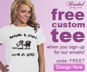Get a Free Wedding Tee, Just Sign Up for our Email. BridalPartyTees.com
