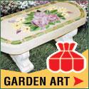 Delphi Glass Garden Art Banner