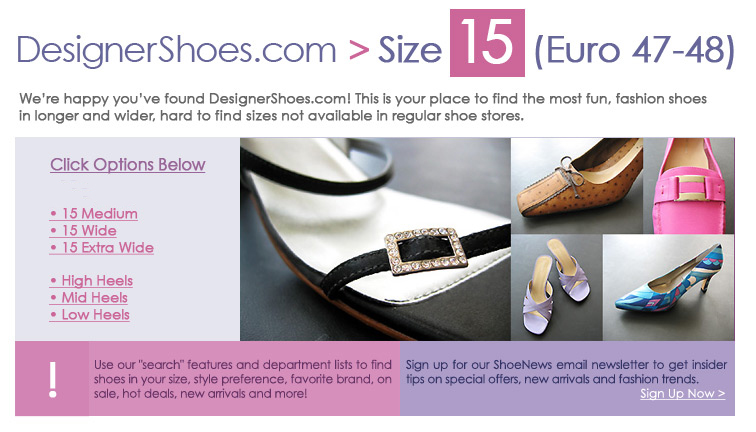 Women's Large and Wide Size Shoe Finder - Shopping with Kathryn