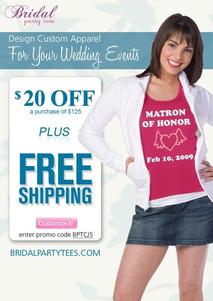 Create Custom Designs for the Entire Wedding Party at BridalPartyTees.com