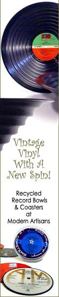 modern artisans vinyl record bowl