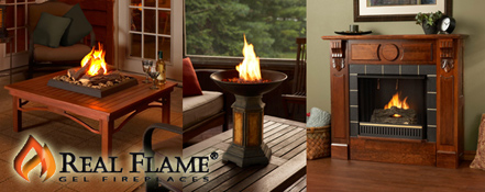Real Flame Portable Indoor Fireplaces