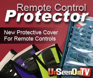 As Seen At TV Presents: The Remote Control Protector - $4.95  - Remote controls can take a beating from drops, spills, dust and even children's sticky fingers. Keep your remote out of harm's way � and in pristine operating condition � with The Remote Control Protector�!  Available in three sizes and various colors (see below), the lightweight cover is made from neoprene and features a clear plastic front that is easy to wipe clean. Just slide a remote control into the pouch, pull down the extended flap and secure it with the hook-and-loop fasteners � then settle in for some worry-free channel surfing!. Available here on http://www.AsSeenAtTV.com!