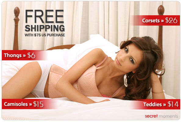 Free Shipping at SecretMoments.com