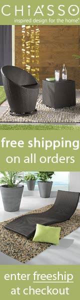chiasso: modern design shipped free