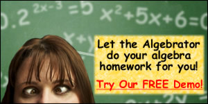 Algebrator solves your math homework step-by-step! - Free Demo