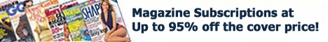 Magazine Subscriptions Up To 95% Off