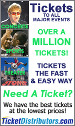 Tickets to all major events the fast and easy way!