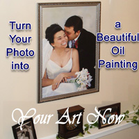 wedding portrait from photo, personalized anniversary gifts