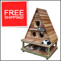 Free Shipping on the Cat Cottage Triplex
