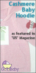 Cashmere Baby Hoodie - as featured in 'US' Magazine