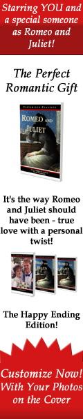 Starring YOU and a special someone as Romeo and Juliet!