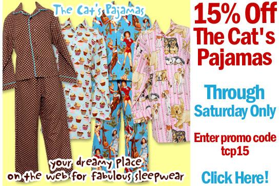 Take 15% Off The Cats Pajamas Sleepwear
