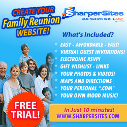Family Reunion Websites: Make Your Own Family Reunion Website, Easy!