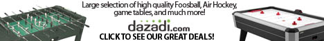 Check out the great deals on game tables at Dazadi.com