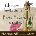 Unique Invitations, Party Favors and Gifts at HansonEllis