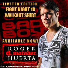 Roger Huerta UFC Fight Night 19 Walk-Out Shirt
