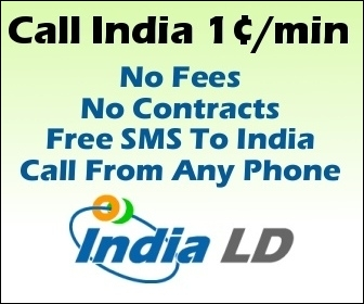 Call India for only 1 cent per minute.