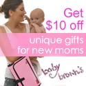 Get $10 off unique gifts for new moms