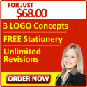 For just $68 you get 3 logo concepts, free stationary, and unlimited revisions.