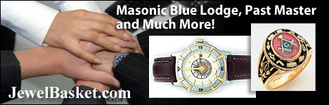 Masonic Jewelry and Rings in 14k Gold or Sterling Silver