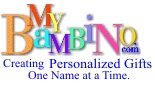 My Bambino personalized baby gifts