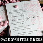 paperwhites press wedding invitations