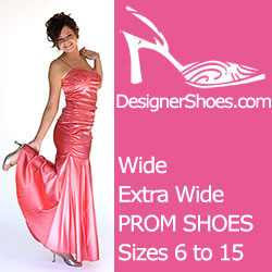 Find hundreds of styles AND sizes for your special PROM at DesignerShoes.com!