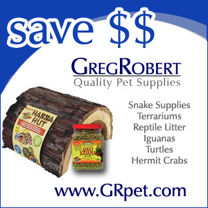 Reptile Supplies at GRpet