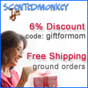 5% off Scented Monkey Products with code 'lucky5'!